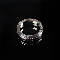 92717 CH 스터드라인 레터링 반지 (Silver)