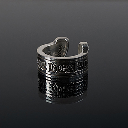 92722 CH 후프 레터링 반지 (Silver)