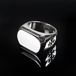 92723 CH 글로시 사이드 크로스 반지 (Silver)