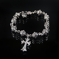 92734 CH 크로스볼 십자가팬던트 팔찌 (Silver)