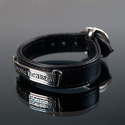 92744 CH 플레그 벨크로 레더 팔찌 (Black)