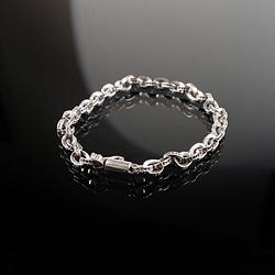 92758 음각 체인 클립 팔찌 (Silver)