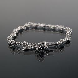 92759 크라운 로즈 후크 팔찌 (Silver)