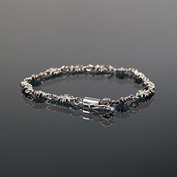 92761 크로스 체인 클립 팔찌 (Silver)