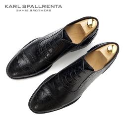 - KARL SPALLRENTA - 92889 악어패턴 프리미엄 슈즈 (Black)