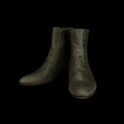 49025 leather angle Boots Quality vintage detail (2color)