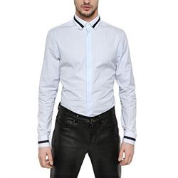 84938 프리미엄 카라 소매 포인트 셔츠 (2Color)