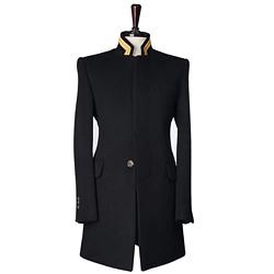 86660 카라 자수 포인트 퀄리티 코트 (Black)