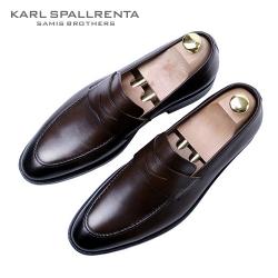 - KARL SPALLRENTA - 93158 페니 프리미엄 슈즈 (Dark Brown)