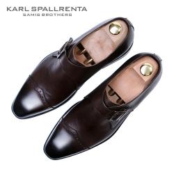 - KARL SPALLRENTA - 93184 싱글 몽크 프리미엄 슈즈 (Dark Brown)