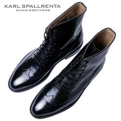 - KARL SPALLRENTA - 93191 플레인 윙 부츠 (Black)