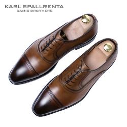 - KARL SPALLRENTA - 93202 세미 브로그 프리미엄 슈즈 (Brown)