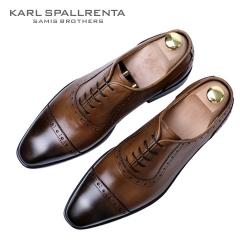 - KARL SPALLRENTA - 93213 스트레이트 팁 슈즈 (Brown)