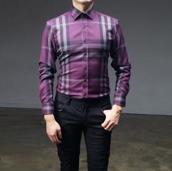 93023 No.20-B 노바체크 셔츠 (Purple)