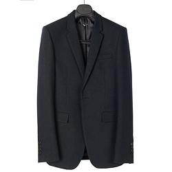 93836 BU LONDON 프리미엄 무지 싱글 자켓 (Black)