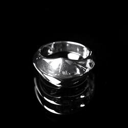 94024  글로시 마름모 반지 (Silver)