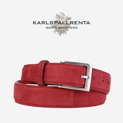 -K.S- 84301 italy ramd sikn 스웨이드 클래식 벨트 (Red)