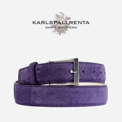 -K.S- 84309 italy ramd sikn 스웨이드 클래식 벨트 (Violet)