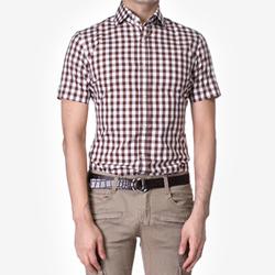 84867 No.25-a 프리미엄 체크 1/2 셔츠 (2Color)