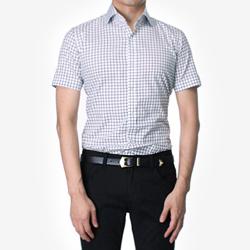 84874 No.26-A 프리미엄 체크 1/2 셔츠 (Black)