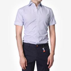 84880 No.30-A 프리미엄 스트라이프 1/2 셔츠 (Navy)