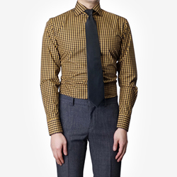 86385 No.42-a 프리미엄 깅엄 체크 셔츠 (Yellow)