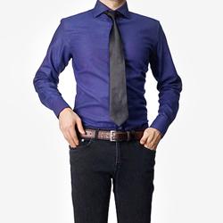 86391 No.43-a 프리미엄 솔리드 기모 셔츠 (Purple)