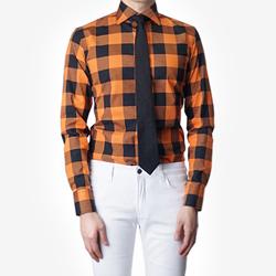 86404 No.47-A 프리미엄 블럭 체크 셔츠 (Orange)