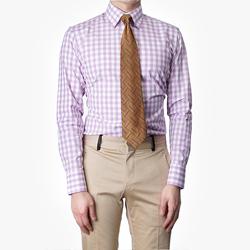 86408 No.51-A 프리미엄 깅엄 체크 셔츠 (Purple)