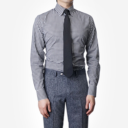 87402 No.55-a 깅엄체크 셔츠 (Black)