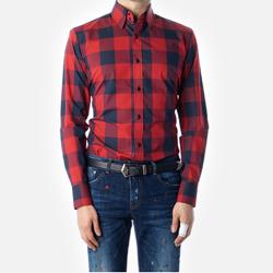 87405 No.56-a 빅 깅엄체크 셔츠 (Red)