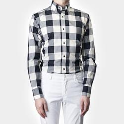 87408 No.56-a 빅 깅엄체크 셔츠 (Black)