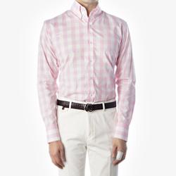 87583 No.63-a 깅엄 체크 셔츠 (Pink)