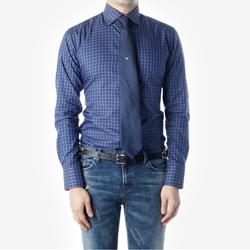 89046 No.85-A 프리미엄 체크 셔츠 (Blue)
