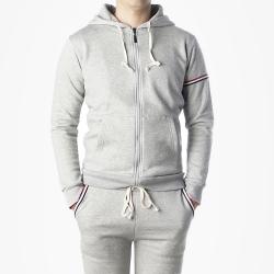 89766 3줄라인 집업 후드 티셔츠 (Gray)