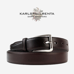 -K.S- 88772 italy real leather 리얼태닝 캐쥬얼 벨트 (Dark Brown)