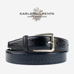 -K.S- 88778 italy real leather 크로커다일 리얼태닝 캐쥬얼 벨트 (Navy)