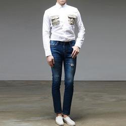 95128 체스트 카무플라주 포켓 셔츠 (Khaki)