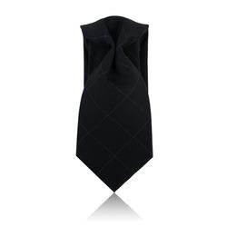 86979 윈도페인체크 8.5cm 넥타이 (Black)