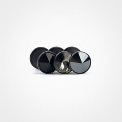6000 컬러 스톤(소) 블랙 피어싱 (7Color)