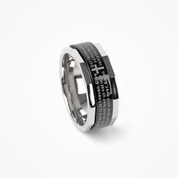 71162 영문 레터링 커팅 링 (Black&Silver)
