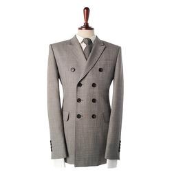 87869 LONDON 프리미엄 샥스킨 패턴 더블 자켓 (Gray)