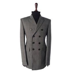 89579 B LONDON 프리미엄 글랜 체크 더블 자켓 (Gray)