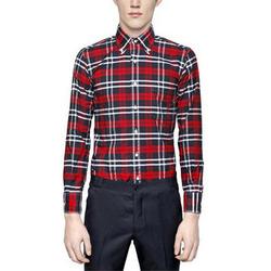 96653 TH 프리미엄 버킹엄 체크 셔츠 (Red)