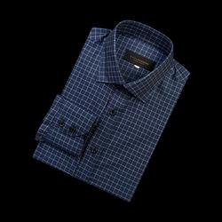 96662 프리미엄 체크 셔츠 (Navy)