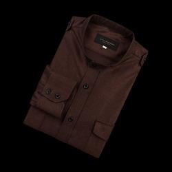 96668 프리미엄 차이나 견장 셔츠 (Brown)