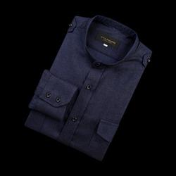 96671 프리미엄 차이나 견장 셔츠 (Navy/100)