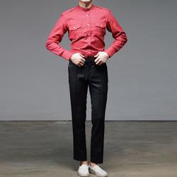 96670 프리미엄 차이나 견장 셔츠 (Red)