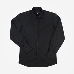97205 베이직 와이드 카라 셔츠 (Black)