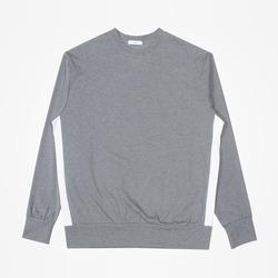 97333 커스텀 사이드 배색 맨투맨 티셔츠 (Chacoal)
